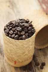 Coffee bean in basket