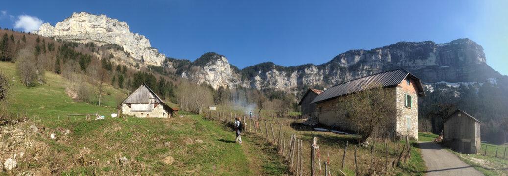 paysage  montagneux chartreuse