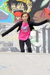 jeune fille à roller
