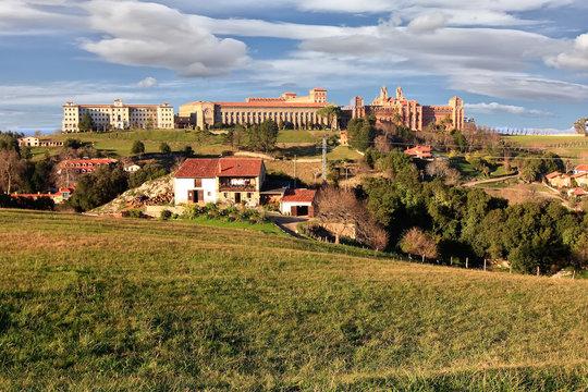 Historic building Comillas Pontifical University in Santander, S