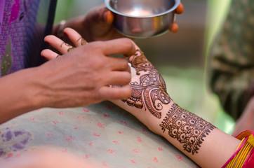 henna design, bride , wedding , Rajasthan, India