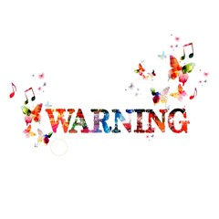 """Colorful vector """"WARNING"""" background with butterflies"""
