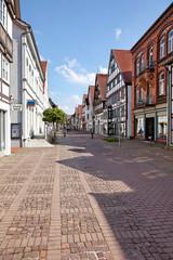 Mittelstraße im Stadtzentrum von Lemgo