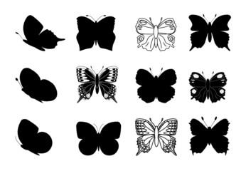 Butterflies silhouettes