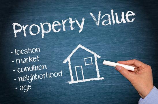 Property Value - Real Estate Concept