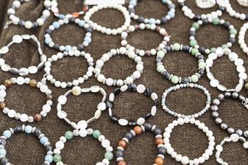 Bracelets handmade in a market