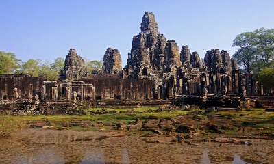 Bayon in center Angkor Wat - Cambodia