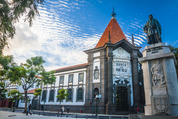 The old historic town center of Funchal, Madeira island. Fototapete