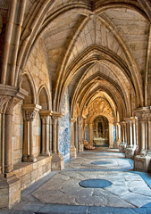 Cloister of the catherdal of Porto, Portugal