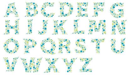dotted alphabet