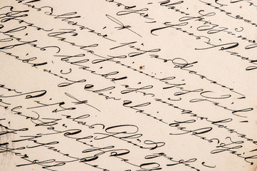 vintage handwriting with undefined text