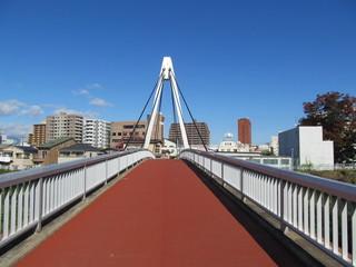 赤い歩道の橋