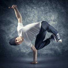 Breakdancer jumping