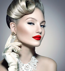 Retro Styled Beauty Lady Portrait