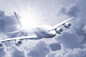 Passenger Air Plane Flying