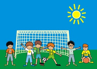 children - football
