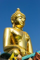 The Big golden buddha statue on Chiangrai, Thailand