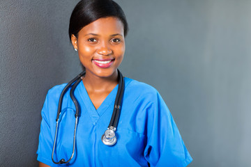 young african medical intern