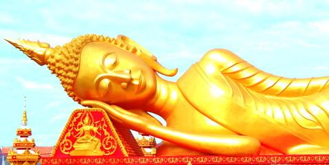 Reclining Buddha images.