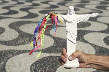 Christ the Redeemer Souvenir Brazilian Wish Ribbons Rio