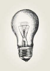 Sketch illustration of a light bulb