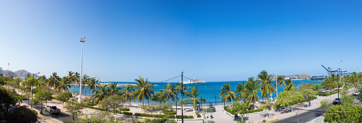 Panorama of the bay of Santa Marta, Colombia