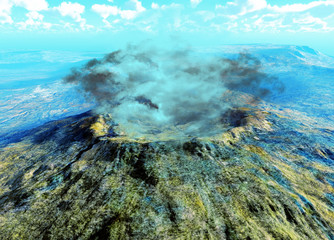 Young volcano being born