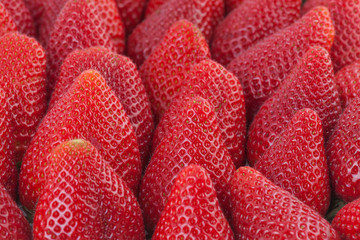 Strawberries in close up