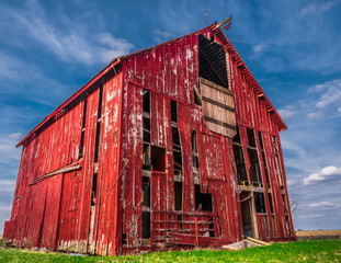 Old Red Wooden Barn