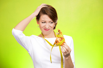 Should I eat this? Woman tries to stay away from pizza