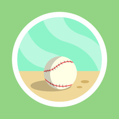 White Baseball Ball Illustration