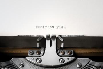 """""""Business Plan"""" written on an old typewriter"""