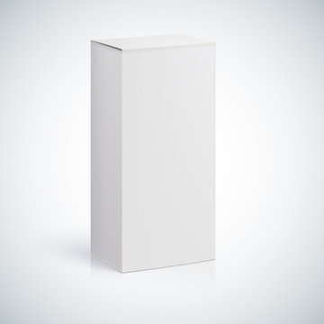 White blank box with empty space