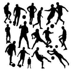Football Silhouettes Set