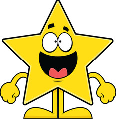 Happy Cartoon Star
