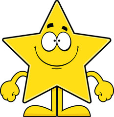 Smiling Cartoon Star