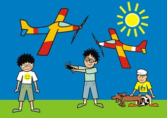 children and planes