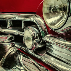 Front of a classic car