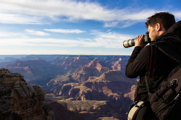 Wall Mural - Fotograf im Grand Canyon, USA