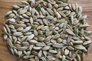 cardamom seeds closeup
