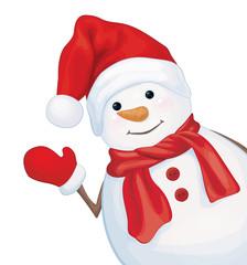 Vector happy snowman.