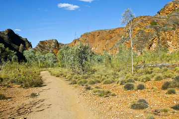 The path in Bungle Bungles (Purnululu) - Purnululu National Park
