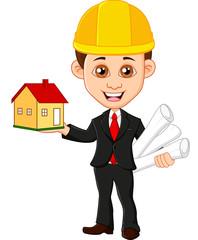 Architect  men keeps house