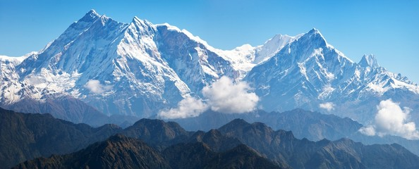 Photo sur Aluminium Népal view of Annapurna Himal