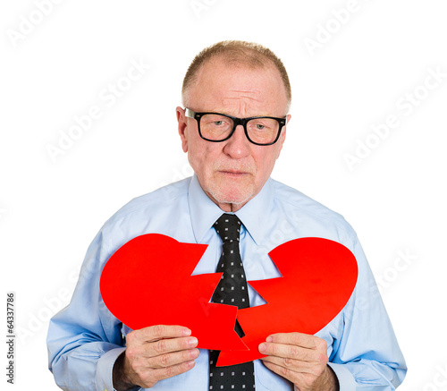 """heart Broken Old Man With Sad Face Expression White"