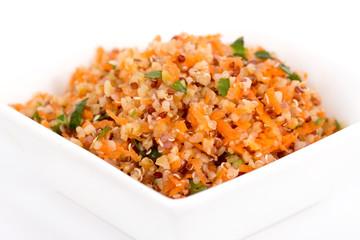 quinoa and bulgur carrot salad