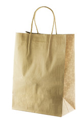 Blank brown paper Shopping Bag with Handles