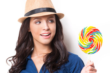 Extremely big lollipop.
