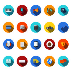 vector flat modern icons set