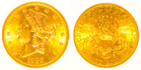 Front and Back Gold Liberty Head Coin